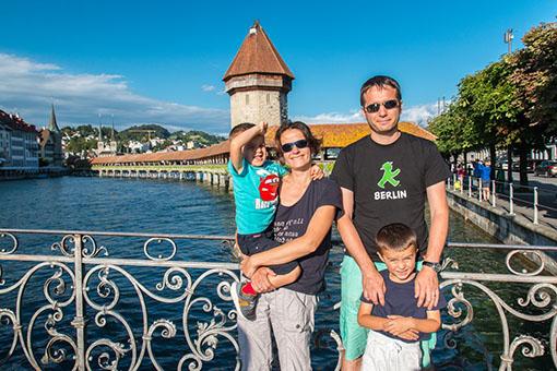 La famille Gibier en visite à Zürich